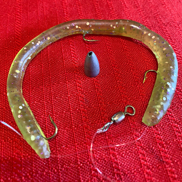 wisey worms copper pumpkin fishing lure